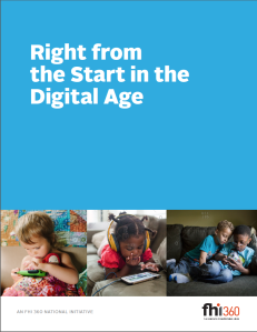 Right from the Start in the Digital Age Position Paper
